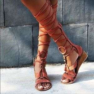 Free People Saltarello Mini Wedge Gladiator Sandal
